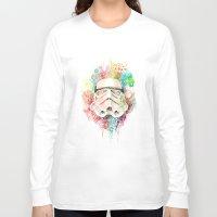stormtrooper Long Sleeve T-shirts featuring Stormtrooper by Veronika Weroni Vajdová
