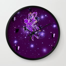 Power Purple For a Cure - Fairy Dust Wall Clock