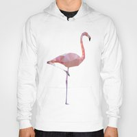 flamingo Hoodies featuring Flamingo by Three of the Possessed