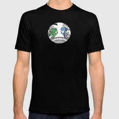 From two different worlds Mens Fitted Tee Black MEDIUM