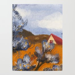 California Rolling Hills Poster