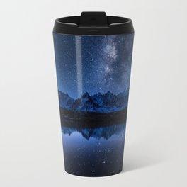 Night mountains Metal Travel Mug