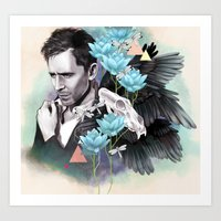 tom hiddleston Art Prints featuring Tom Hiddleston by Yan Ramirez
