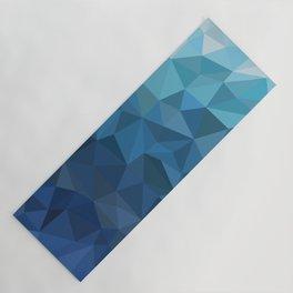 blue geometric Yoga Mat