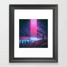 NEON BAPTISM (everyday 02.20.17) Framed Art Print
