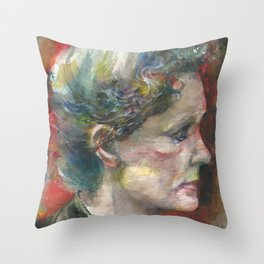 MARIE CURIE - watercolor portrait.3 Throw Pillow