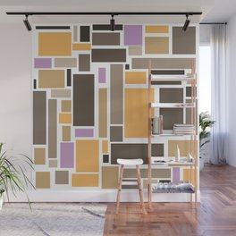 Pastel Rectangles Wall Mural