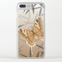 Beautiful Copper Butterfly Design Clear iPhone Case