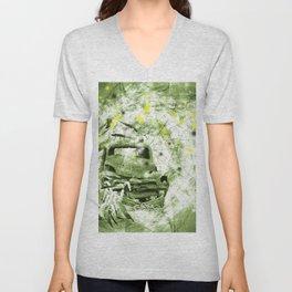 Dream wreck in grunge green kaleidoscope Unisex V-Neck