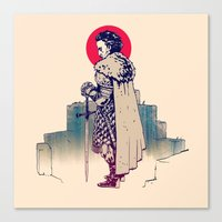sword Canvas Prints featuring Dude&Sword by xxss