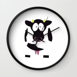Cow in Cartoon Stlye Wall Clock
