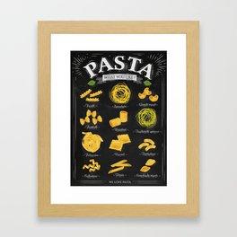 Pasta chalk Framed Art Print