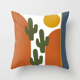 Cactus Growth Throw Pillow