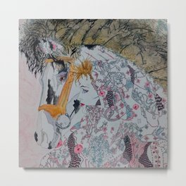 Horse woman Metal Print