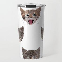 Cute Cat Head Pattern Travel Mug