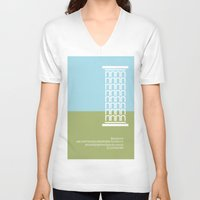 greece V-neck T-shirts featuring GREECE - FontLove by Luca Milani