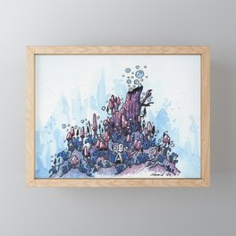 Ninja and the wood Framed Mini Art Print