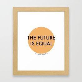 The Future is Equal - Orange Framed Art Print