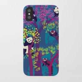 Both Species of Panda - Blue iPhone Case