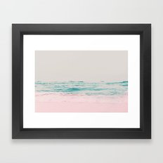Vintage Pastel Ocean Waves Framed Art Print