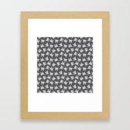 Shopping Cart Monochrome Framed Art Print