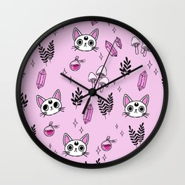 Witchy cats Wall Clock