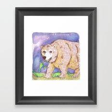 Hungry Bear Framed Art Print