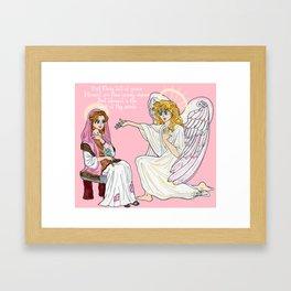 The Anunciation anime style Framed Art Print