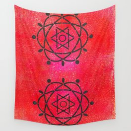 Funky Atoms Wall Tapestry