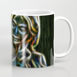 Mother and child neon glow - by Brian Vegas Coffee Mug
