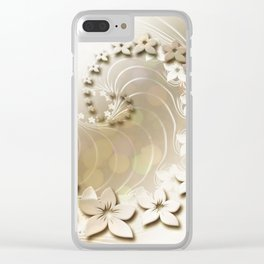 Flora Flowers Background Clear iPhone Case