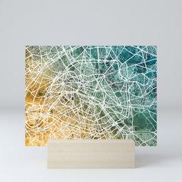 Paris France City Street Map Mini Art Print