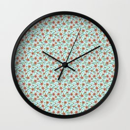 Lluvia de flores Wall Clock