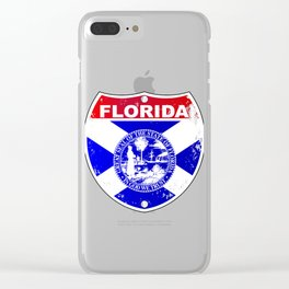 Florida Interstate Sign Clear iPhone Case