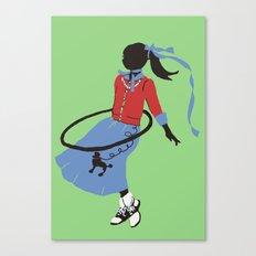 Poodle Skirts, Bobby Socks and Hoola Hoops Canvas Print