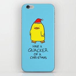 Quacker of a Christmas iPhone Skin