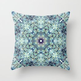 Find me blue Throw Pillow
