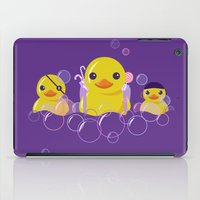 bathroom iPad Cases featuring DANGERS OF THE BATHROOM by ketizoloto