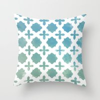 monogram Throw Pillows featuring Monogram by Chilligraphy