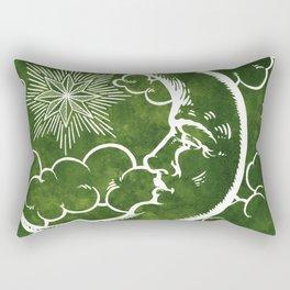 Moon vintage green Rectangular Pillow