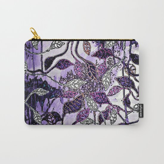 Interlaced Leaves Carry-All Pouch