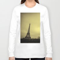eiffel tower Long Sleeve T-shirts featuring Eiffel Tower by alexaxm