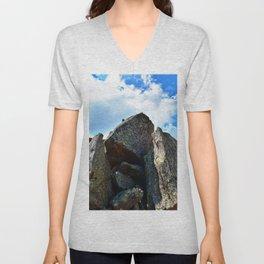Mountain Landscape Panorama Unisex V-Neck