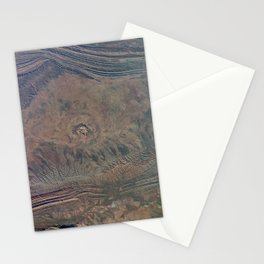 Impact Crater from Space by Planet Prints Stationery Cards