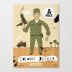 Colonel Decker Canvas Print