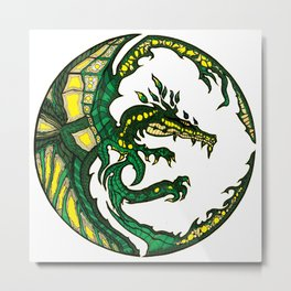 EARTH DRAGON Metal Print