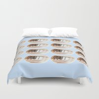 brand new Duvet Covers featuring Brand New Ice Tea by mofart photomontages
