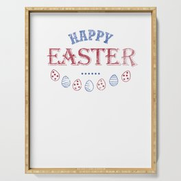 Happy Easter Cool Women Men Kids Design Holiday Gift Serving Tray