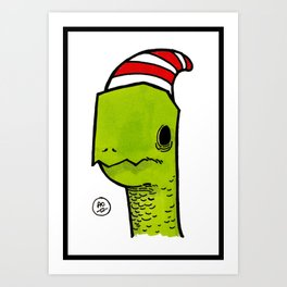 ben the turtle Art Print