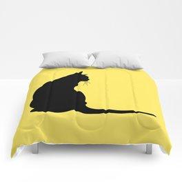 Cat's silhouette Comforters
